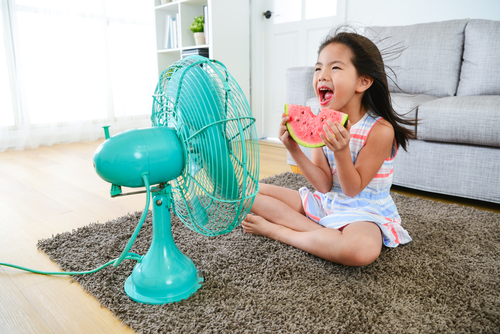 keep cool with a fan